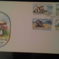 stamps 1983 Lesotho fungi issue. Envelope