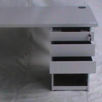 Straight desk maple plus pedestal