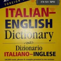 Italian-English Dictionary - Barron's.