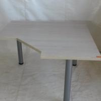 Shale oak curved desk