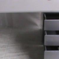Folk stone grey straight desk plus pedestal