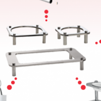 DOMINO - MODULAR SERVING AND CONDIMENT POLE SYSTEM