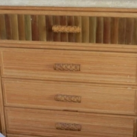 Imported cane chest of drawers Stunning Item