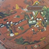 Chinese hand painted ornamental table