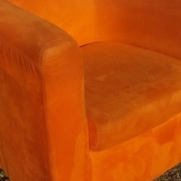 Lovely and Modern Suede Tub Chair