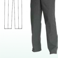 CHEFS UNIFORM - BLACK PINSTRIPE BAGGIES - BLACK BAGGIES - WHITE CHECK BAGGIES