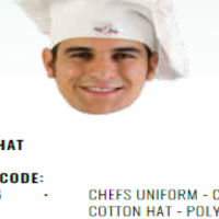 CHEFS UNIFORM - CHEFS COTTON HAT - POLY COTTON