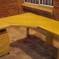 Oak L shape office desks for sale