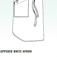 CHEFS UNIFORM - TAPPERED WHITE APRON