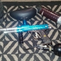 Paint ball gun with mask for sale