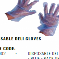 DISPOSABLE DELI GLOVES - BLUE - PACK OF 100