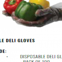 DISPOSABLE DELI GLOVES - PACK OF 100