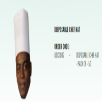 DISPOSABLE CHEF HAT - PACK OF - 50