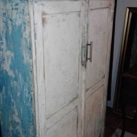Old solid wood cupboard,