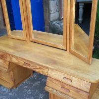 Oak Finish Dressing Table (1800x490x620)