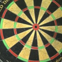 dartboard (hardly used)