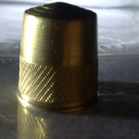 solid brass thimble