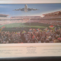 2x springbok rugby world cup finals potrates for sale