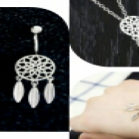 silver dreamcatcher set
