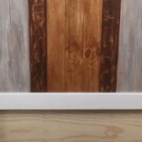 Headboard Chunky Farmhouse series Queen size - Weathered look