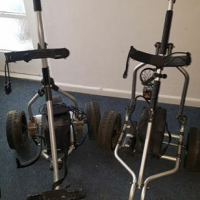 Electronic golf trolleys for sale