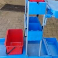 Industrial cleaning trolleys