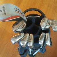 Adamsgolf golfbag with adamsgolf irons