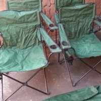 4 x Foldup Camping Chairs with their Bags
