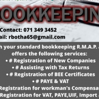 Bookkeeping Services available @ only R2000 pm
