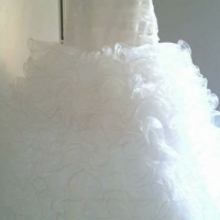 Beautiful designed wedding dress