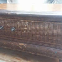 Antique cane coffee table