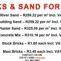 Building material and Truck available to rent
