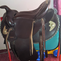 "16.5"" Western Saddle Dark brown Brand New"