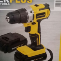 Cordless drill 18V set with 2 batteries