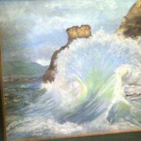 Signed Seascape, Oil on board (Marita)
