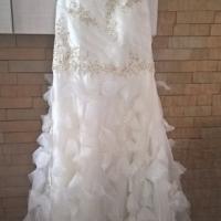 Cream white vintage wedding dress