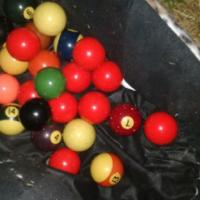 Pool/snooker balls mix