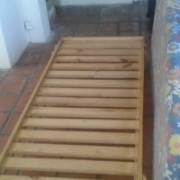 Single bed base & foam mattress - pine wood