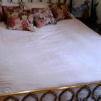 Antique Queen Size Brass Bed Set