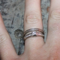 Wedding Ring + Engagement Ring (2 rings) for sale