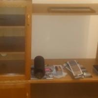 TV cabinet with glass door