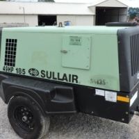 John Deere Diesel Engine, 185 CFM, 2012 Sullair Rotary Screw Air Compressor -good condition!!