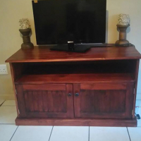 "32"" TV and solid wood cabinet R2000 for both."