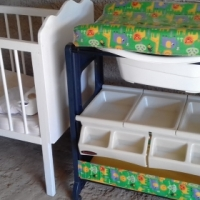 baby goodies /pram with car seat/ baby cot  / baby bath set etc for sale