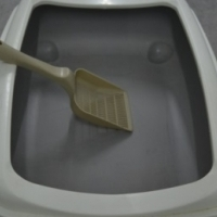 Cat Litter Box with scoop - 500mm long x 400mm wide x 120mm high