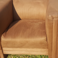 Single Cute Suede Couch