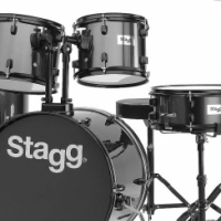 STAGG 5 piece drum kit including cymbals a chair and sticks
