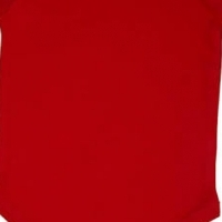 We supply 100% blank baby onesies - red in stock mixed sizes