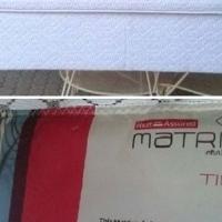 Dubbel basebed met matras