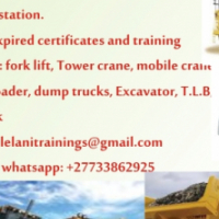 Training Fork lift.Mobile crane.Reach stacker.Excavator call 0733862925